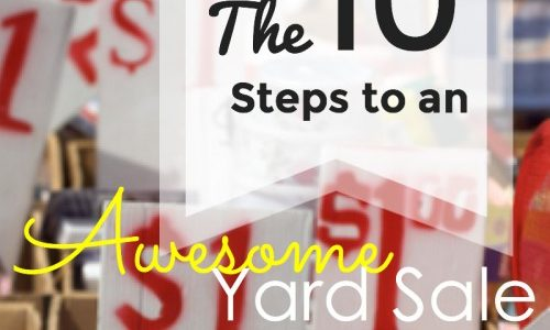 10 Steps to An Awesome Yard Sale